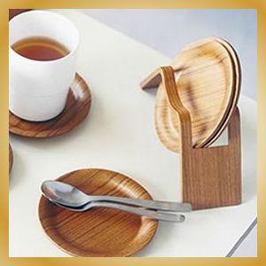 コースターセット プライウッド カフェ 北欧|vanilladesign