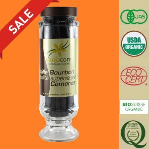 オーガニック バニラビーンズ(コモロ産)『バニラブルボン』200g入瓶-A|vanillashop