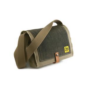 TOOL BAG FOR STREET 横型/A5/6号帆布パラフィン<シャドウベージュ×グレーブラックデニム>< 帆布 ショルダーバッグ > vannuyswebshop