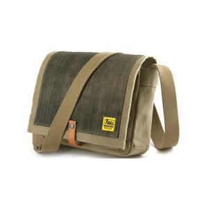 TOOL BAG FOR STREET 横型/B5/6号帆布パラフィン<シャドウベージュ×グレーブラックデニム>< 帆布 ショルダーバッグ > vannuyswebshop