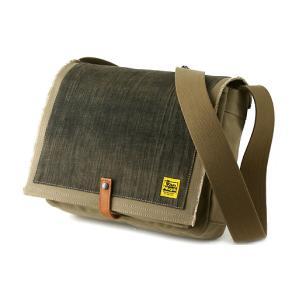 TOOL BAG FOR STREET 横型/A4/6号帆布パラフィン<シャドウベージュ×グレーブラックデニム>< 帆布 ツールバッグ ショルダーバッグ > vannuyswebshop
