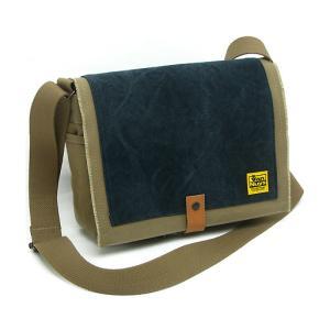 TOOL BAG FOR STREET 横型/A4/6号帆布パラフィン<シャドウベージュ×バイオウォッシュブラック>< 帆布 ツールバッグ ショルダーバッグ > vannuyswebshop