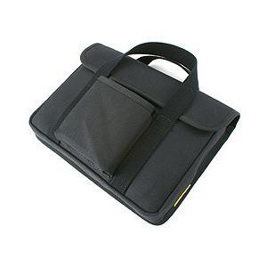 帆布 の 薄型 PC ケース /Type-B(しっかりガードのフラップ付き)<ブラック>< PCバッグ トートバッグ >|vannuyswebshop