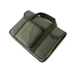 帆布 の 薄型 PC ケース /Type-B(しっかりガードのフラップ付き)<グリーン>< PCバッグ トートバッグ >|vannuyswebshop