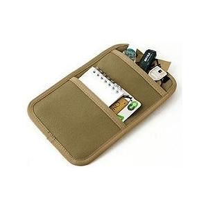 フロントツインポケット用バッグインポケット-A/B5サイズ用<6号帆布パラフィン加工/シャドウベージュ>【バンナイズ/VanNuys】|vannuyswebshop