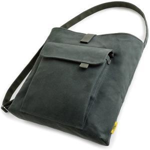 お散歩バッグ/A4 (6号帆布製: ブルーグリーン パラフィン加工済み)< 帆布 ショルダーバッグ 斜め掛け >|vannuyswebshop