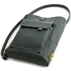 お散歩バッグ/B5 (6号帆布製: ブルーグリーン パラフィン加工済み)< 帆布 ショルダーバッグ 斜め掛け >|vannuyswebshop