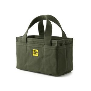 オープンツールバッグ/ショート(6号帆布パラフィン加工/グリーン)< 帆布 トートバッグ >|vannuyswebshop