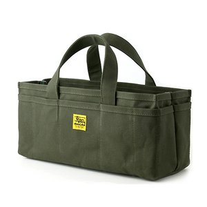 オープンツールバッグ/ロング(6号帆布パラフィン加工/グリーン)< 帆布 トートバッグ >|vannuyswebshop