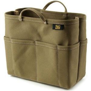 帆布 の バッグインバッグ ( 8号帆布 製/ カーキ グレー ) < 収納 かばん ポーチ >|vannuyswebshop