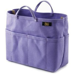 帆布 の バッグインバッグ ( 8号帆布 製/ パープル ) < 収納 かばん ポーチ むらさき >|vannuyswebshop