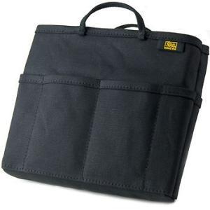 帆布 の バッグインバッグ /薄型( 8号帆布 製: ブラック ) < 収納 かばん 旅行 ポーチ >|vannuyswebshop