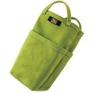 帆布 の バッグインバッグ /縦型( 8号帆布 製: ライム ) < 収納 かばん 旅行 ポーチ グリーン >|vannuyswebshop