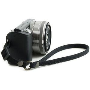 片手で持ちやすく操作しやすい帆布のカメラ用ハンドストラップ(取り付けベルト部分:幅10mm)(8号帆布製/カラー:ブラック)|vannuyswebshop