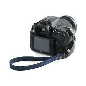 片手で持ちやすく操作しやすい帆布のカメラ用ハンドストラップ/フラットタイプ(取り付けベルト部分:幅10mm)(8号帆布製/カラー:ネイビー)|vannuyswebshop