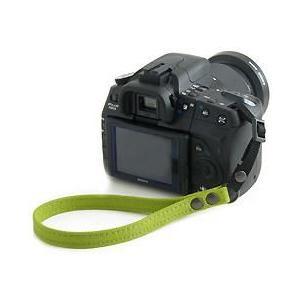 片手で持ちやすく操作しやすい帆布のカメラ用ハンドストラップ/フラットタイプ(取り付けベルト部分:幅10mm)(8号帆布製/カラー:ライム)|vannuyswebshop