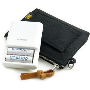 eneloop/KBC-E1AS対応完全無欠の仕切り付き予備バッテリーケース(バリスティックナイロン製/ブラック)< eneloop 充電器 乾電池 >|vannuyswebshop