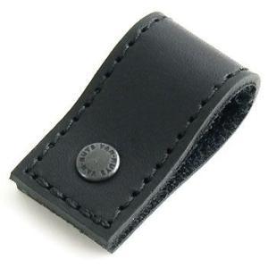 ぬめ革 の ケーブルクリップ ( 牛ぬめ革 製: ブラック )< ケーブルホルダー コードホルダー コードキーパー >|vannuyswebshop