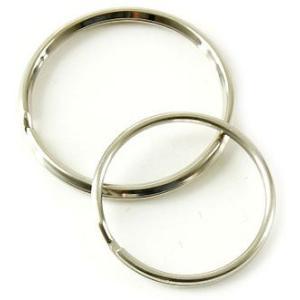 角押 2重環 / 32mm と 丸押 2重環 / 27mm のセット < パーツ アタッチメント 鉄 ニッケル メッキ >|vannuyswebshop