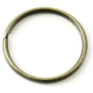 角押 2重環 / 32mm / いぶし タイプ < パーツ アタッチメント 鉄 ニッケル メッキ >|vannuyswebshop