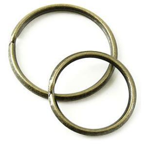 角押 2重環 / 32mm と 角押 2重環 / 27mm のセット/ いぶし タイプ < パーツ アタッチメント 鉄 >|vannuyswebshop