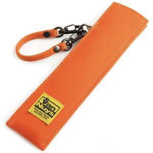 帆布の扇子ケース/帆布のバッグ用ストラップ付き(8号帆布製:オレンジ)< せんす センス ポーチ 保護ケース > vannuyswebshop