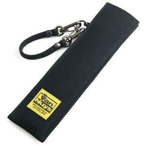 帆布の扇子ケース/帆布のバッグ用ストラップ付き(8号帆布製:ブラック)< せんす センス ポーチ 保護ケース > vannuyswebshop