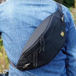 自転車 や バイク 、 旅行 や街歩きのための 簡易 ロック 付き 斜め掛け ショルダーバッグ (バリスティックナイロン製/ブラック) vannuyswebshop