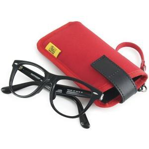 縦型 メガネ 用 ソフト ケース / 8号帆布 製( レッド )< 帆布 サングラス 眼鏡 めがねケース >|vannuyswebshop