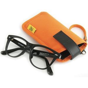 縦型 メガネ 用 ソフト ケース / 8号帆布 製( オレンジ )< 帆布 サングラス 眼鏡 めがねケース >|vannuyswebshop