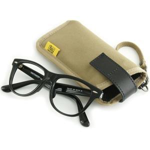 縦型 メガネ 用 ソフト ケース / 8号帆布 製( カーキ グレー )< 帆布 サングラス 眼鏡 めがねケース >|vannuyswebshop