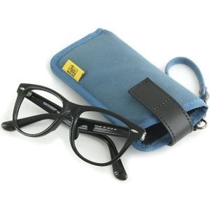 縦型 メガネ 用 ソフト ケース / 8号帆布 製( ブルー )< 帆布 サングラス 眼鏡 めがねケース >|vannuyswebshop