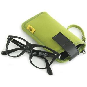 縦型 メガネ 用 ソフト ケース / 8号帆布 製( ライム )< 帆布 サングラス 眼鏡 めがねケース グリーン >|vannuyswebshop