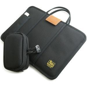 MacBook 12インチ用 薄型キャリングケース/横型 USB-C-USBアダプタ用 ポケット付き 手提げ付き <電源アダプタ・ ケーブル用ファスナーケース セットタイプ>|vannuyswebshop