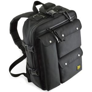 トリプル フロントポケット の スクエア バックパック < backpack リュック アウトドア メンズ バック かばん >|vannuyswebshop