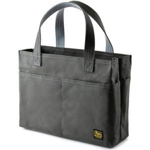 スクエア ポケポケトート A4 (9号帆布製:グレー パラフィン加工済み) < トートバッグ かばん 手提げ 肩掛け >|vannuyswebshop