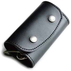ポケット付き ぬめ革キーケース (牛ぬめ革製) < キーホルダー レザー アクセサリー メンズ レディース 鍵 > vannuyswebshop