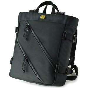 Wファスナーオープントップ Tote & BackPack/S (バリスティックナイロン製) ブラック < トートバッグ 手提げ メンズ 鞄 かばん かばん リュック >|vannuyswebshop