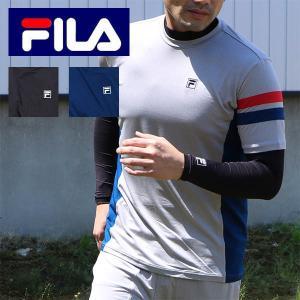 送料無料 FILA(フィラ)2点セット(半袖+ストレッチ長袖インナー)半袖Tシャツとアンダーセット(...
