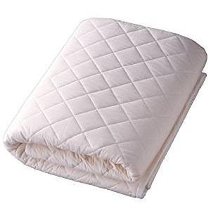 パシーマのサニセーフ 夏は涼しく冬あったかガーゼと脱脂綿でできたパットシーツ シングルワイドロング 約110×210cm きなり 580117|vape-land
