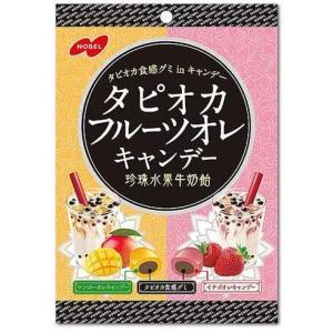 ノーベル製菓 タピオカフルーツオレ 90g×6袋入 2ケース 即日発送 送料無料 条件一切なし