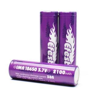 《ゆうパケット送料無料》 Efest(イーフェスト)正規品 リチウムマンガン電池IMR18650 2100mAh(38A) 電子タバコ リキッド Vape バッテリー|vapecollection