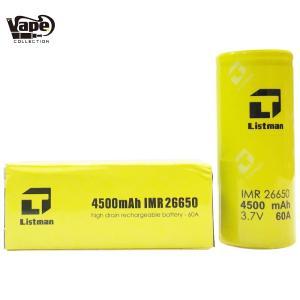 《送料無料》【Listman】IMR 26650 4500mAh 60A Flat top 電子タバコ 本体 セット MOD Vape 爆煙 人気 おすすめ 初心者 温度管理 コンパクト 小さい RBA 電池|vapecollection