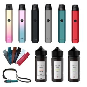 電子タバコ ベイプ スターターキット ZQ Xtal×りきっどや極100ml SET 専用ケース×USBストラップ付き ベプログ VAPE ベープ 本体 禁煙 充電式|vapecollection