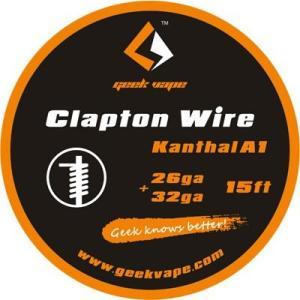 電子タバコ VAPE コイル Geek Vape Clapton Kanthal A1 26ga+32ga (15ft)  コイル べイプ 電子たばこ 電子煙草 爆煙|vapekobesannomiya