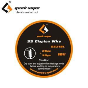 電子タバコ VAPE コイル Geek Vape SS Clapton Wire SS316L 26ga+30ga (10Ft)ワイヤー コイル べイプ 電子たばこ 電子煙草 爆煙|vapekobesannomiya