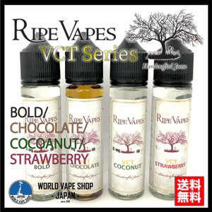 RIPE VAPES 新作 VCT シリーズ 60ml BOLD STRAWBERRY COCOANUT CHOCOLATE|vapekobesannomiya
