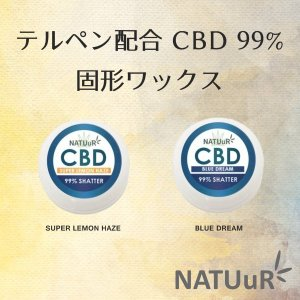 CBD ワックス NATUuR CBD99% SHATTER WITH TERPENES 500mg