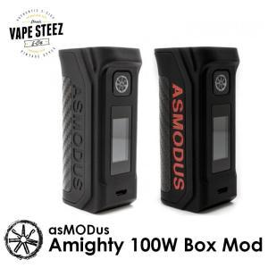 電子タバコ バッテリー MOD ASMODUS (アズモダス) AMIGHTY 100W BOX MOD|vapesteez