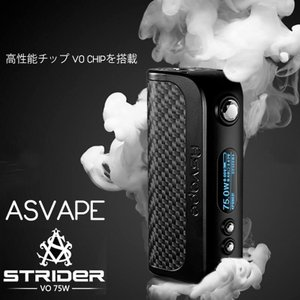 ASVAPE STRIDER Box MOD VO75 Chipset搭載のテクニカルMOD 電子たばこ バッテリー|vapesteez